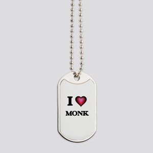 I Love Monk Dog Tags
