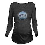 Krill America Long Sleeve Maternity T-Shirt