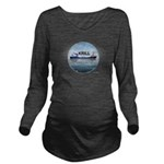 Krill America Long Sleeve Maternity T-Shirt