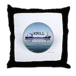 Krill America Throw Pillow