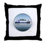 Krill America Throw Pillow