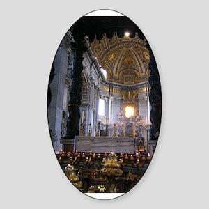 St. Peter's Basilica Oval Sticker