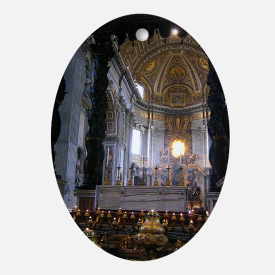 St. Peter's Basilica Oval Ornament