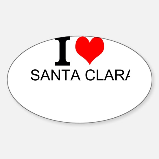 I Love Santa Clara Decal