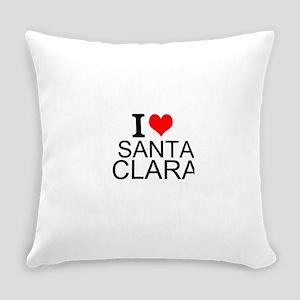 I Love Santa Clara Everyday Pillow