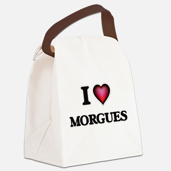 I Love Morgues Canvas Lunch Bag