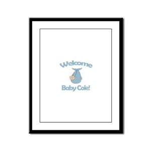 Welcome Baby Cole Framed Panel Print