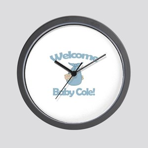 Welcome Baby Cole Wall Clock