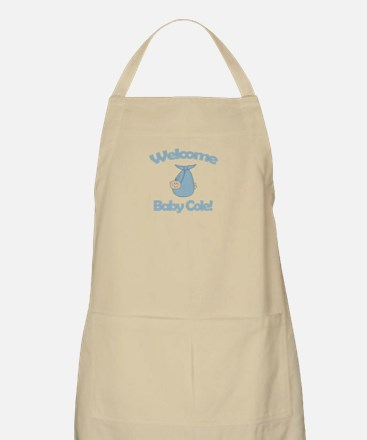 Welcome Baby Cole BBQ Apron