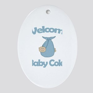 Welcome Baby Cole Oval Ornament
