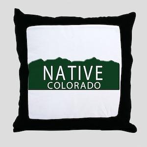 Native Colorado Throw Pillow