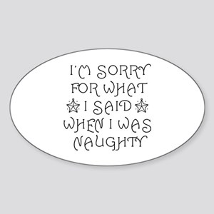 Said Naughty Sticker (Oval)