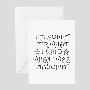 Said Naughty Greeting Card