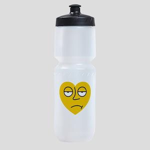 Heart Sad Face Emoji Smiley Emoticon Sports Bottle