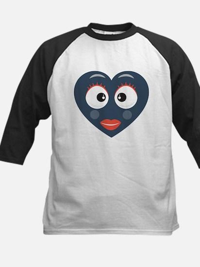 Heart Emoji Big Eyes, Big Lashes Baseball Jersey