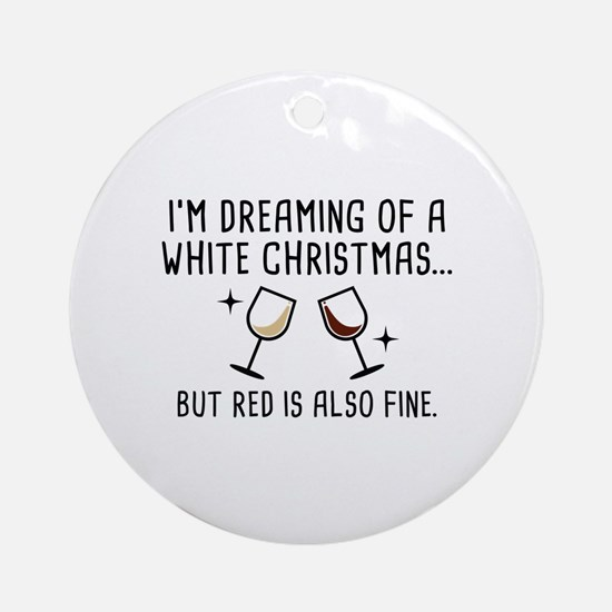 White Christmas Ornament (Round)