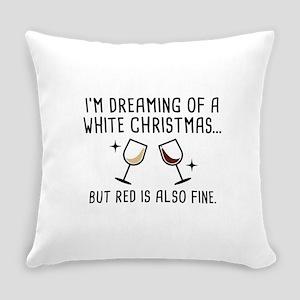 White Christmas Everyday Pillow