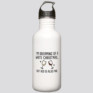 White Christmas Stainless Water Bottle 1.0L
