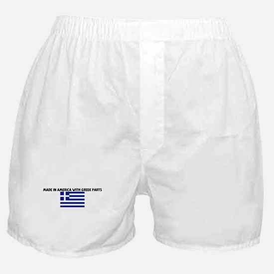 MADE IN AMERICA WITH GREEK PA Boxer Shorts
