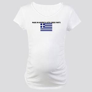 MADE IN AMERICA WITH GREEK PA Maternity T-Shirt