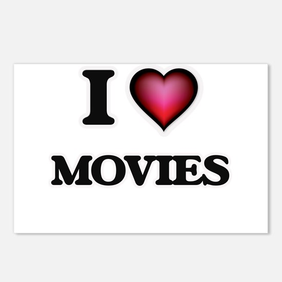 I Love Movies Postcards (Package of 8)