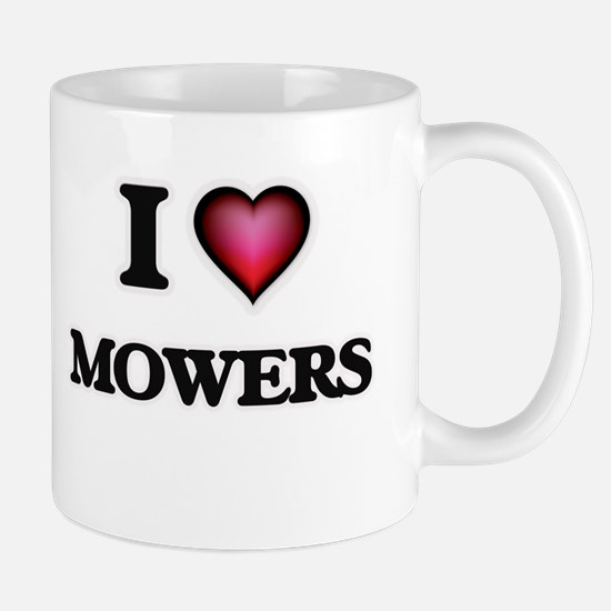 I Love Mowers Mugs