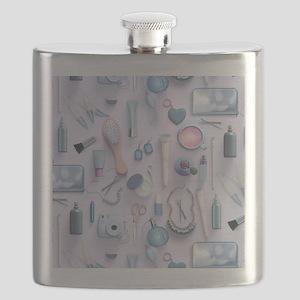Blue Vanity Table Flask