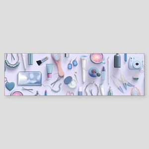 Blue Vanity Table Sticker (Bumper)