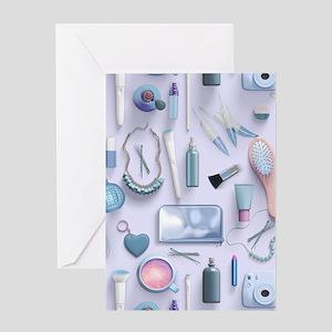 Blue Vanity Table Greeting Card