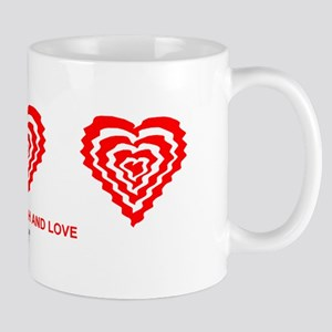 BB Live to Laugh and Love Mirrored in Red Mugs