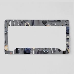 Black Vanity Table License Plate Holder
