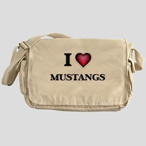 I Love Mustangs Messenger Bag