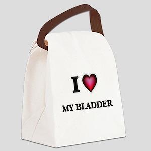 I Love My Bladder Canvas Lunch Bag