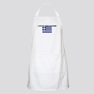 I LOVE MY GREEK BOYFRIEND BBQ Apron