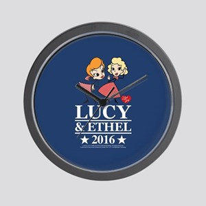 Lucy and Ethel 2016 Wall Clock