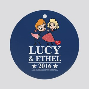 Lucy and Ethel 2016 Round Ornament