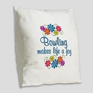 Bowling Joy Burlap Throw Pillow