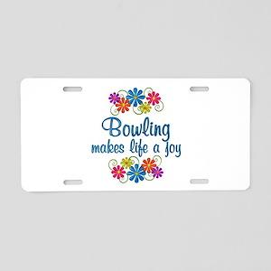 Bowling Joy Aluminum License Plate