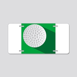 Golf Ball On The Green Aluminum License Plate