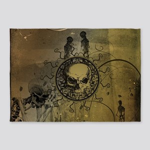 Awesome skull 5'x7'Area Rug