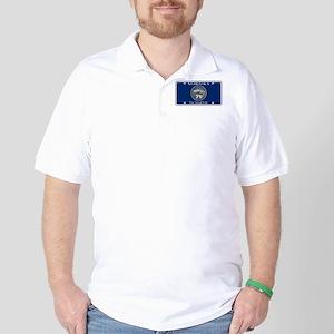 Nebraska License Plate Flag Golf Shirt