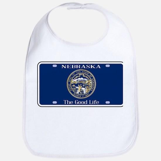 Nebraska License Plate Flag Bib