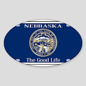Nebraska License Plate Flag Sticker