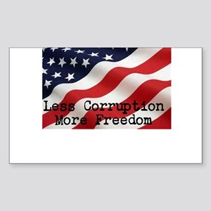 Less corruption more freedom Sticker