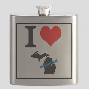 Dark Michigan design Flask