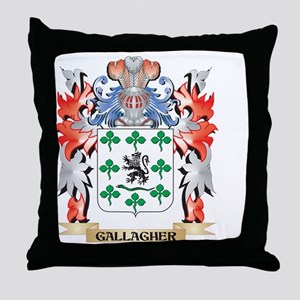 Gallagher Coat of Arms - Family Crest Throw Pillow