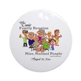 Family reunion Round Ornaments