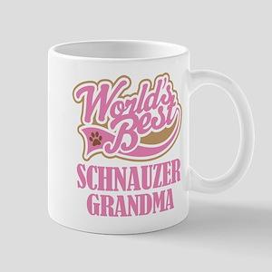 Schnauzer Grandma Gift Mugs