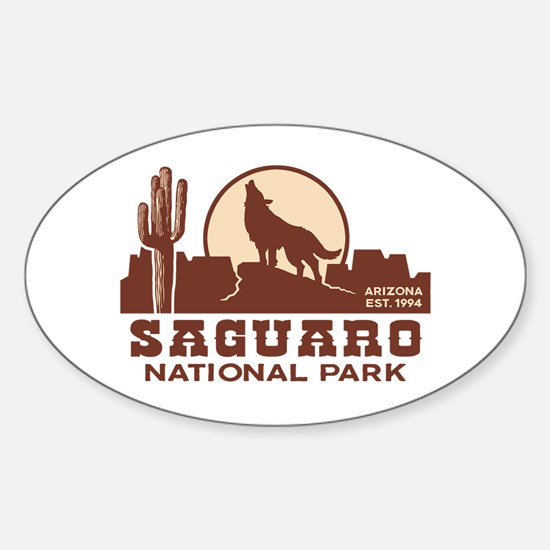 Saguaro National Park Sticker (Oval)