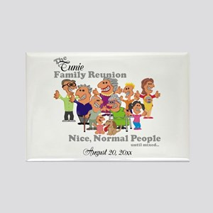 Personalized Family Reunion Funny Cartoon Magnets